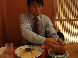 松本昼食中
